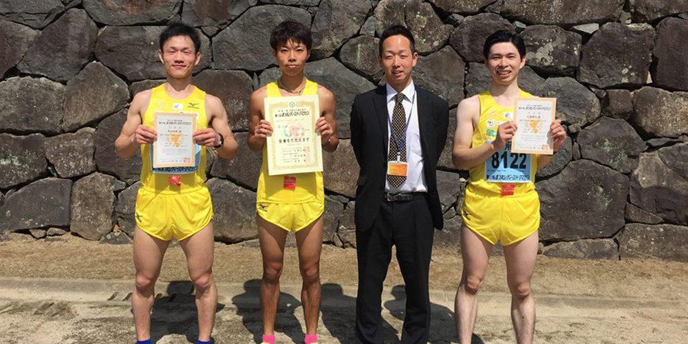 松江レディースマラソンに参加した3名と代表の竹下